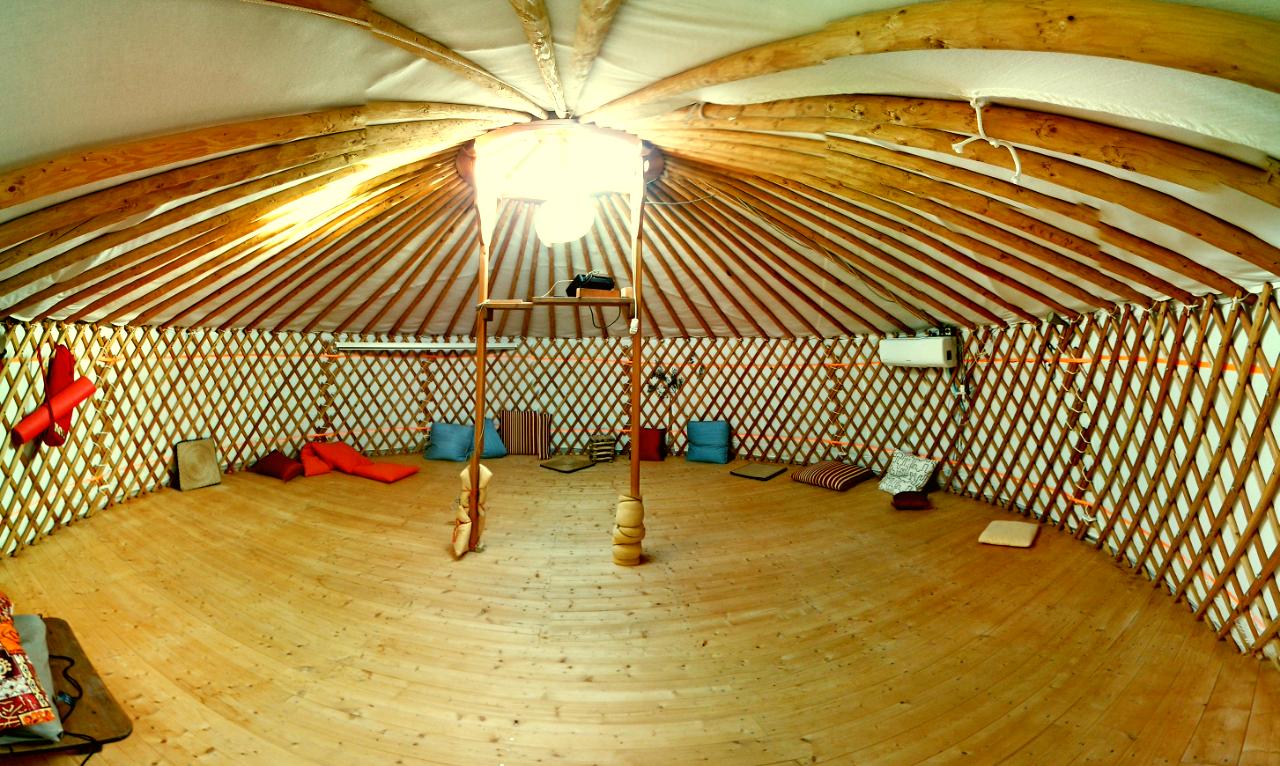 l'interno della yurta